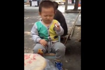 China outrage after smoking 2-year-old is caught on camera