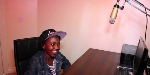 11 year old Charmaine Chamisa collects her $250 from Nehanda TV