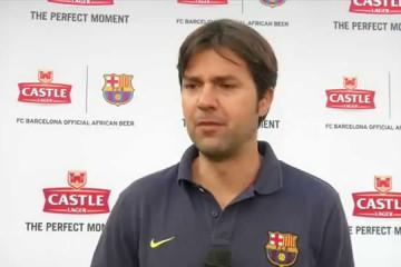 FC Barcelona Coach Isaac Oriol Guerrero Hernandez in Zimbabwe