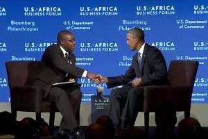 Zim businessman interviews Obama (Video)