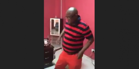 Watch as Chiyangwa dances in the office