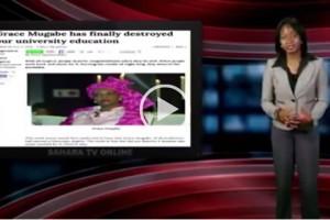 Comedian makes fun of Grace Mugabe PhD