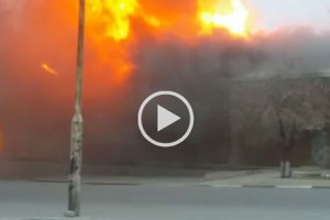 Video of Customs Warehouse on fire in Beitbridge