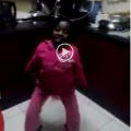 Little girl dancing to Seunononga