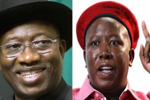FUNNY- Julius Malema vs Goodluck Jonathan of Nigeria.