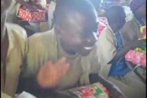 Joy Unlimited: Kids from Burundi open Xmas shoebox gifts