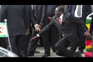 Video of Mugabe stumbling from podium