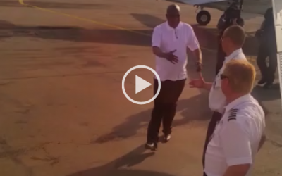 VIDEO: Chiyangwa boards private plane