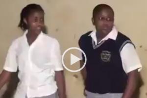 School girls get down to dance
