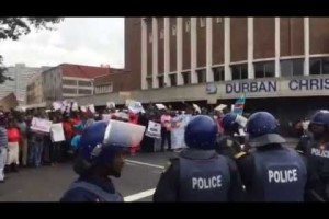 Durban cops use water cannon, teargas on anti-xenophobia marchers