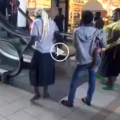 Watch woman confronting her escalator fear