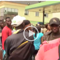 Fight over fuel scarcity in Nigeria (video)