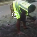 Watch Kenyans removing flowers planted for Obama's visit