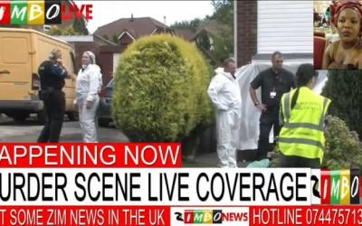 Coverage of Miram Nyazema murder scene in Rochdale, Manchester UK