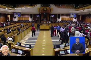 VIDEO – Julius Malema forcefully removed from SA parliament