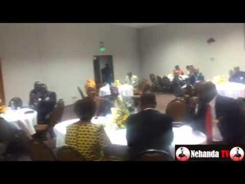Chiyangwa addressing Zimbabwe Prisons Fund Raiser
