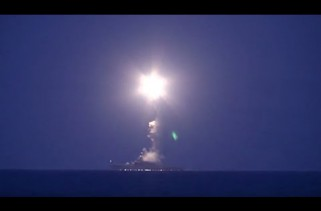 FIRST VIDEO: Russian warships attack ISIS positions in Syria
