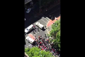 WATCH: Stun grenades fired at protesting students in Cape Town