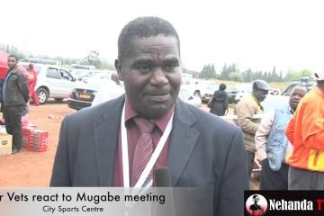VIDEO – War Vets react to Mugabe meeting
