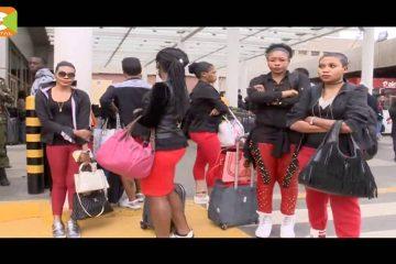 Shocking: Koffi Olomide kicks his female dancer in Kenya (Video)