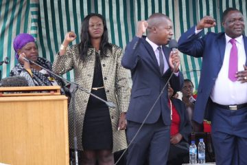 VIDEO – March by jobless Zanu PF youths in Harare