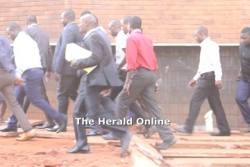Magaya arrives at the Rotten Row Magistrate Court (Video)