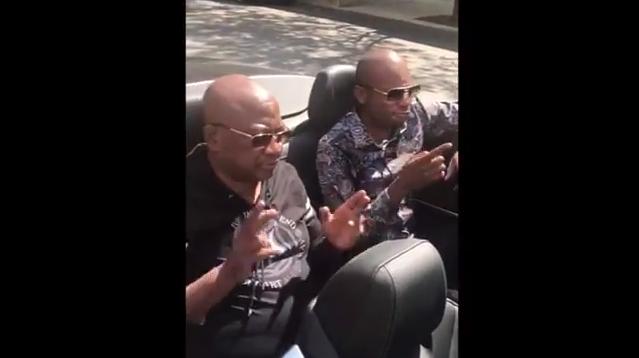 Chiyangwa jamming to Stunner and Boom Beto new song